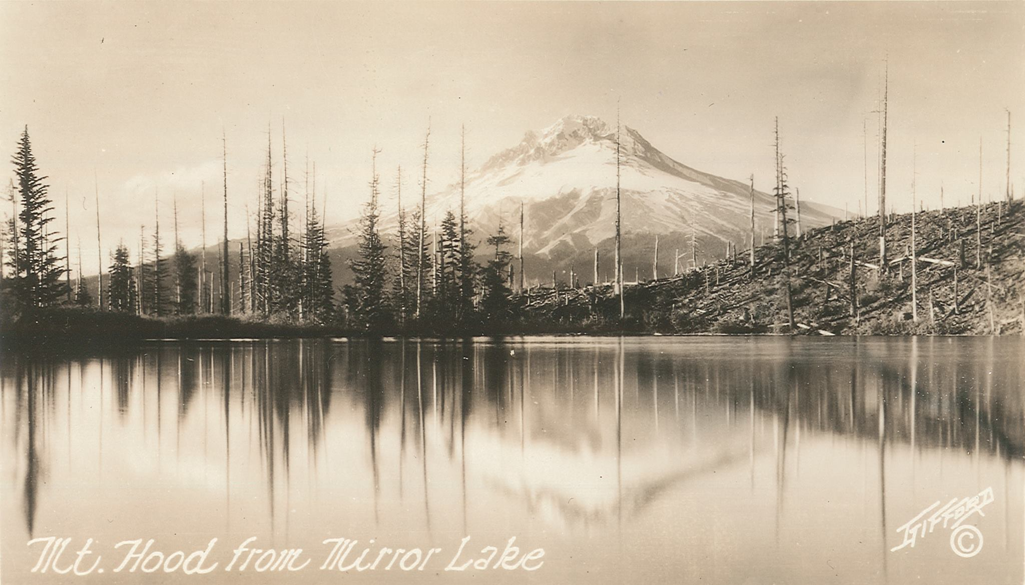 Historic photo of Mirror Lake