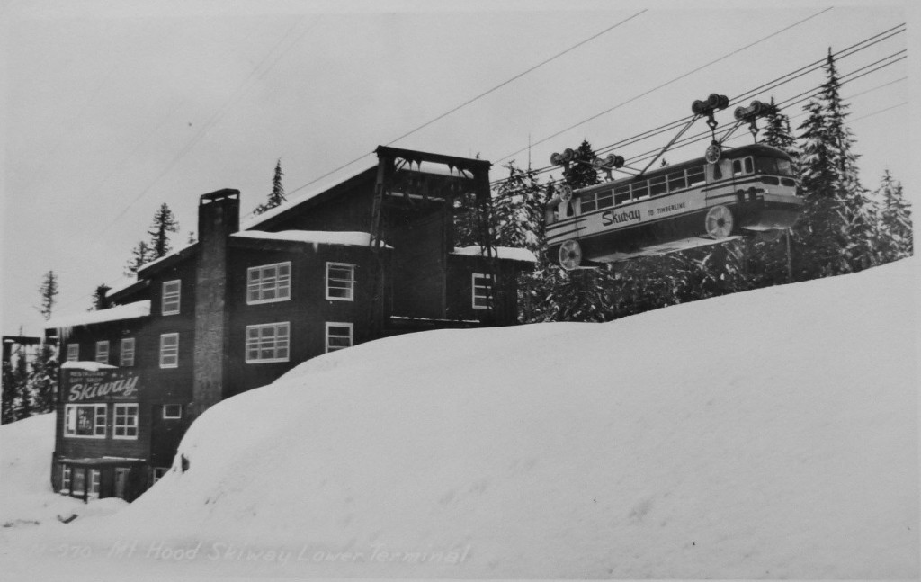 The lower terminal of the Skiway tram.
