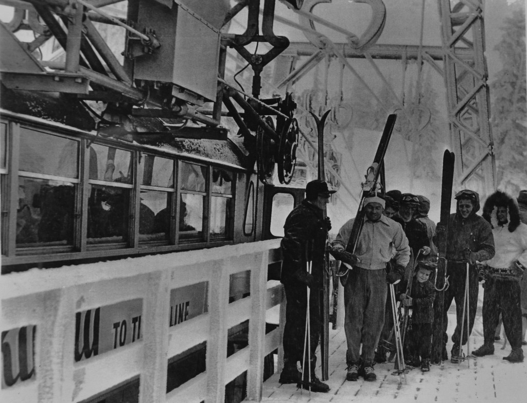 The loading platform at Timberline Lodge.